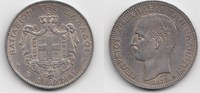 5 Drachmen 1876 A Griechenland Georg I. 1863-1913 Winziger Kratzer, vor... 295,00 EUR  zzgl. 4,00 EUR Versand