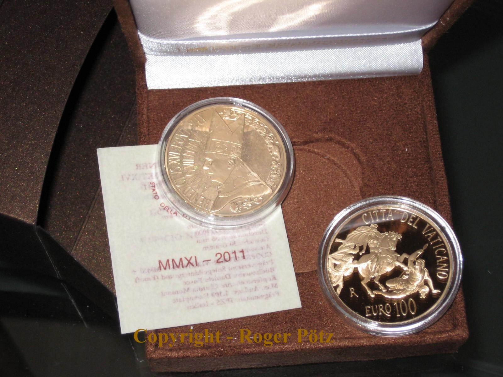 100 Euro Gold 2011 Die Stanze des Heliodor Pp proof nur 1100 Exemplar