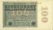 22.8.1923 GERMANY Allemagne. Billet. 100 millions de mark 22.8.1923. S... 15,00 EUR  +  7,00 EUR shipping