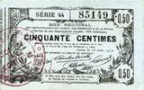 16.6.1916 FRENCH EMERGENCY NOTES Aisne, Ardennes et Marne - Bon région... 14,00 EUR  +  7,00 EUR shipping