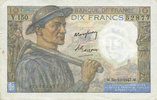 1947-10-30 NOTES OF THE BANQUE DE FRANCE Banque de France. Billet. 10 ... 6,00 EUR  +  7,00 EUR shipping