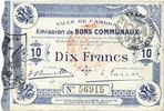 1914-10-30 FRENCH EMERGENCY NOTES Cambrai (59). Ville. Billet. 10 fran... 20,00 EUR  +  7,00 EUR shipping