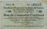 11.3.1916 FRENCH EMERGENCY NOTES Charleville et Mézières (08). Syndica... 6,00 EUR  +  7,00 EUR shipping