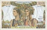 2.5.1957 BANKNOTEN DER BANQUE DE FRANCE Banque de France. Billet. 5000... 100,00 EUR