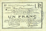 22.5.1916 FRENCH EMERGENCY NOTES Douai et Région de Carvin (59). Bille... 10,00 EUR  +  7,00 EUR shipping