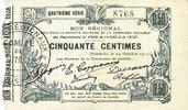 1915-10-24 FRENCH EMERGENCY NOTES Fourmies (59). Bon Régional des Dépa... 20,00 EUR  +  7,00 EUR shipping