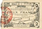 8.5.1915 FRANZÖSISCHE NOTSCHEINE Fourmies (59). Bon Régional des Dépar... 9,00 EUR  zzgl. 7,00 EUR Versand
