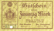 31.3.1920 DEUTSCHLAND - NOTGELDSCHEINE (1914-1923) K -Z Limbach, Stadt... 18,00 EUR