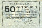 20.7.1917 GERMANY - EMERGENCY NOTES (1914-1923) K - Z Limburg a. d. La... 8,00 EUR  +  7,00 EUR shipping