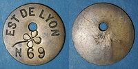 TOKENS Lyon (69). Est de Lyon. Contremarque trèfle à quatre feuilles ... 25,00 EUR  +  7,00 EUR shipping