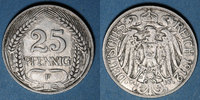 1912 F GERMANY after 1870 Allemagne, 25 pfennig 1912F ss  /  s-ss  10,00 EUR  +  7,00 EUR shipping