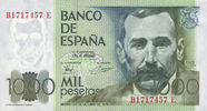 1979-10-23 OTHER FOREIGN NOTES Espagne. Billet. 1 000 pesetas 23.10.19... 25,00 EUR  +  7,00 EUR shipping