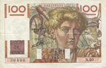 7.11.1945 NOTES OF THE BANQUE DE FRANCE Banque de France. Billet. 100 ... 18,00 EUR  +  7,00 EUR shipping