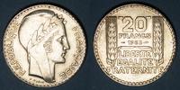 1933 FRANZÖSISCHE MODERNE MÜNZEN 3e république (1870-1940). 20 francs ... 25,00 EUR  zzgl. 7,00 EUR Versand