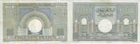 1946-06-18 ANCIENT FRENCH COLONIES Banque d'Etat du Maroc. Billet. 50 ... 50,00 EUR  +  7,00 EUR shipping