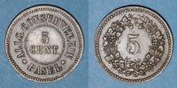 EUROPE Suisse. Ville de Bâle.Suisse. Allgemeine Consumverein. 5 cent ... 25,00 EUR  +  7,00 EUR shipping