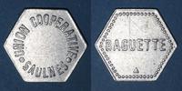 FRENCH EMERGENCY COINS Saulnes (54). Union Coopérative. Baguette. Non... 8,00 EUR  +  7,00 EUR shipping