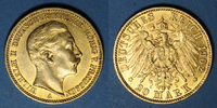 1902 A GOLD FOREIGN COINS Prusse. Guillaume II (1888-1918). 20 mark 19... 325,00 EUR  +  7,00 EUR shipping