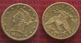 10 Dollars Goldmünze Eagle Coronet Head 18...