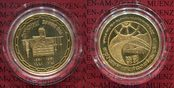 100 Dinar Goldmünze 1981 Kuwait 20 Jahre U...