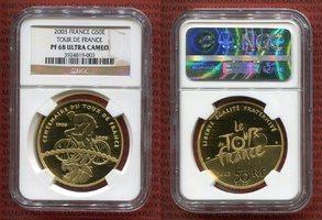 50 Euro Goldmünze 2003 Frankreich Tour de ...
