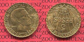 5 Pesos Gold 1930 Uruguay 100 Jahre Verfas...