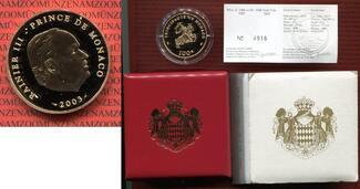 100 Euro Goldmünze 2003 Monaco Monaco 100 ...