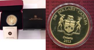 300 Dollars Goldmünze 2013 Kanada, Canada ...