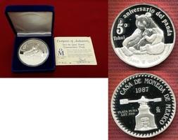 5 Unzen Silbermedaille 1987 Mexiko Mexiko ...