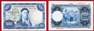 500 Pesetas 1954 Spanien Spain Spanien 500...