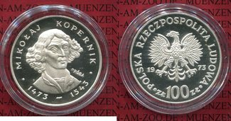 100 Zloty Silbermünze 1974 Polen, Poland P...