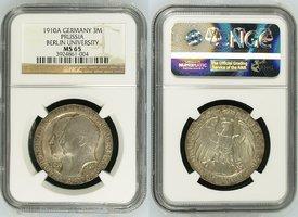 3 Mark Silber Gedenkmünze 1910 Preußen, Pr...