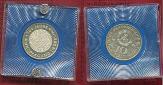 10 Mark Materialprobe Silber 1981 DDR GDR ...