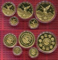 1, 1/2, 1/4, 1/0 1/20 Unze Gold 2014 Mexik...