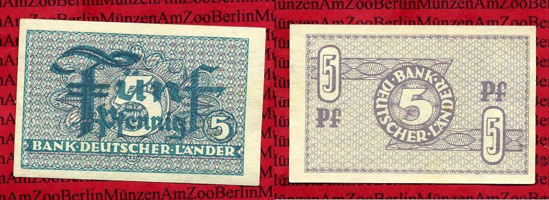 5 pfennig bank deutscher länder