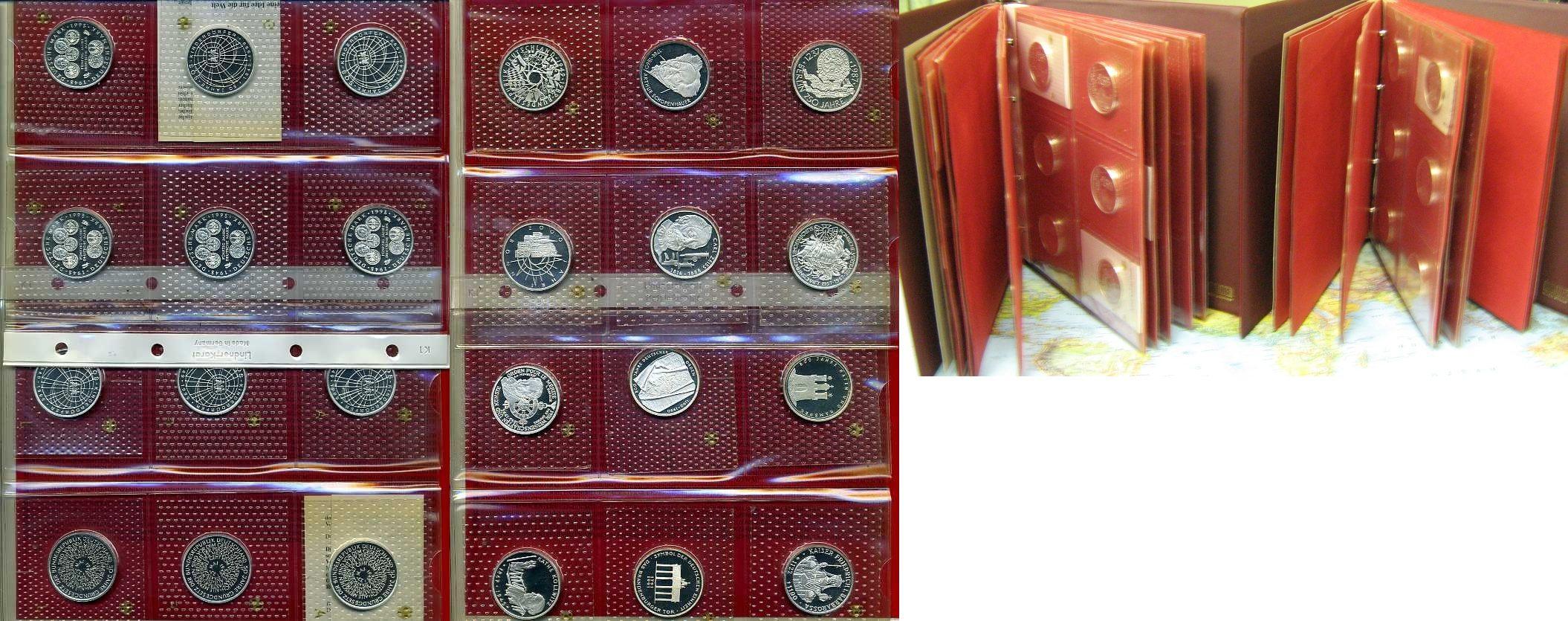 Komplettsammlung 10 DM 1987 - 2001 1987 - 2001 Bundesrepublik Deutschland Sammlung 107 x 10 DM Spiegelglanz Komplettsammlung Spiegelglanz /PP in Originalfolie*