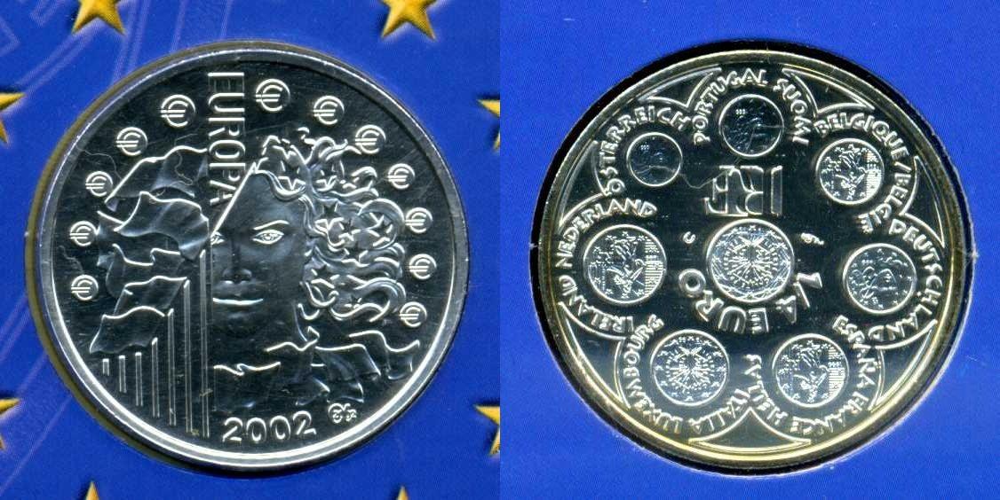 1 4 euro silber 2002 frankreich frankreich 1 4 euro europa 2002 im folder bu stempelglanz in. Black Bedroom Furniture Sets. Home Design Ideas