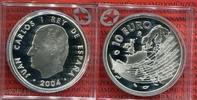 10 Euro 2004 Spanien Spanien 10 Euro Silber EU-Erweiterung Polierte Pla... 22,50 EUR  + 8,50 EUR frais d'envoi