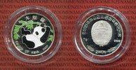 Nordkorea, Northern Korea 2 Won Silbermünze Nordkorea 2 Won 2007 Farbmünze Panda, Fauna Asiens