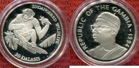 20 Dalasis Silber 1994 Gambia Schimpanse Monkey WWF Gefährdete Tierwelt... 22,00 EUR  + 8,50 EUR frais d'envoi