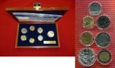 Vatikan Kursmünzensatz 10 - 1000 Lire KMS Vatikan KMS 1985 10 Lire bis 1000 Lire - MCMLXXXV -