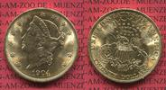 USA 20 Dollars Gold Liberty  Double Eagle USA 20 Dollars Liberty, Frauenkopf, 1904 Gold