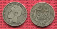 Rumänien Romania 5 Lei Silber Rumänien 5 Lei Silber 1882 Carol. I. CAROL I  Rege Al ROMANIEI
