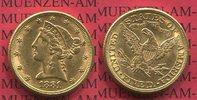 5 Dollars Half eagle 1881 USA USA 5 Dollars Liberty, Frauenkopf, Corone... 349,00 EUR  +  8,50 EUR shipping