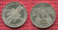 Bundesrepublik Deutschland, Germany FRG 5 DM Gedenkmünze Silber 5 DM 1952 D, Germanisches Museum in Nürnberg Adlerfibel