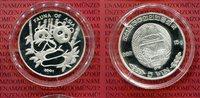 Nordkorea 5 Won Silber Nordkorea 5 Won Silber 2001 Endangered Wildlife Panda