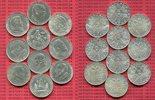 Österreich, Austria 2 Schilling Gedenkmünzenserie 10 x 2 Schilling Doppel-Schilling Sammlung Schubert bis Erlach mit Haydn