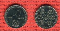 10 Mark 1975 DDR Gedenkmünze 20 Jahre Warschauer Vertrag prägefrisch  8,00 EUR