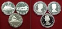 3 x 1 Dollar Silbermünzen 1984-1987 Kanada Kanu Totonto 1984, Eisenbahn... 49,00 EUR