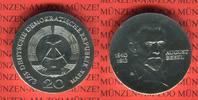 20 Mark 1973 DDR Gedenkmünze 60.Todestag August Bebel prägefrisch  45,00 EUR